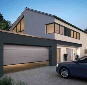 Porte de garage automatisée en aluminium